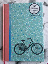A5 Notebook Vintage Floral Bike Hardback Ruled Note Book Cycling Journal Gift