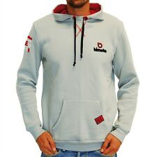 New Official Bimota Mans Grey Hoodie Fleece