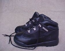 Toddler Boys Size 12 M TIMBERLAND BLACK WATERPROOF FIELD BOOTS SHOES Sz 12 M