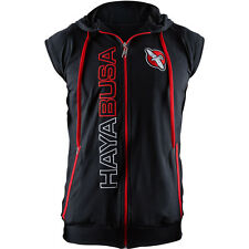 Hayabusa Prime Sleeveless Zip Up Hoodie - Black/Red