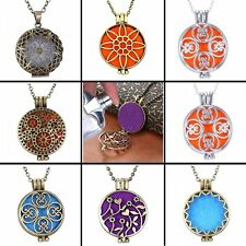 Essential Diffuser Locket Pendant Aromatherapy Oil Perfume Pendant Necklace Gift