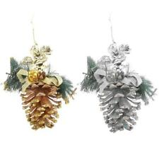 Christmas Wedding Pinecone XMAS Tree Door Wall Decor Hanging Ornament 2 Color