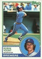 1983 TOPPS #350 ROBIN YOUNT (HOF), MILWAUKEE BREWERS, NM-MT