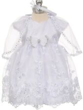 Little Baby Girls Cap Sleeve Baby Doll Christening Baptism Girls Dresses