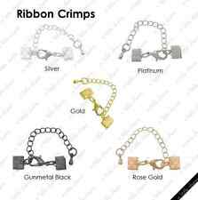 [HS] Jewelry Findings - Cord Closures - Ribbon Crimps 20 mm