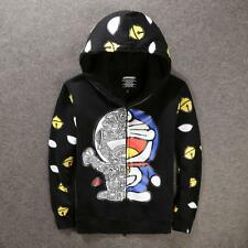 Unisex Hipanda Hip-hop Cartoon Doraemon Outwear Stylish Hoodie Jacket 3Color