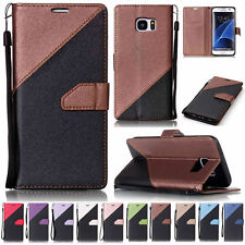 PU Leather Design Flip Wallet Folder Stand Case Cover For Samsung Galaxy Phones
