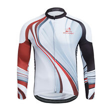 New Long Sleeve Cycling Jacket Men Bike Jerseys Antislip Bicycle Clothing Top