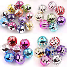 10/50Pcs Mixed Acrylic Round Loose Spacer Beads Necklace Bracelet Accessory DIY