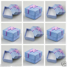 WHOLESALE LOT 24 PCS JEWELRY GIFT COLOR BOX DISPLAY NEW FASHION FOR RING EARRING