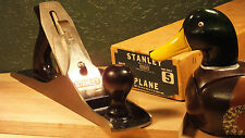 STANLEY BAILEY NO 5 JACK PLANE WITH ORIGINAL BOX, NEVER SHARPENED, LITTLE USE
