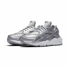 Nike Wmns Womens Air Huarache Run SE Metallic Silver Running Shoes 859429-002