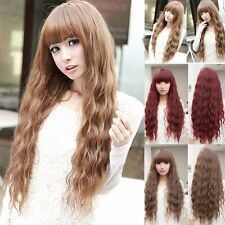 Beauty Fashion Womens Lady Long Curly Wavy Hair Full Wigs Cosplay Party JK