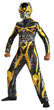 Bumblebee Classic Muscle Child Costume Boys Jumpsuit Mask Halloween Disguise