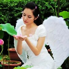 Princess Adult Kids Cosplay Fairy Feather Angel Wings Costume Party Fancy Dress