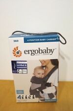 Ergo Baby Four Position 360 Baby Carrier Black & Camel NEW IN BOX ErgoBaby