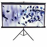 "Elite Screens Tripod Series White Portable Projection Screen 113"" Diagonal 1:1"