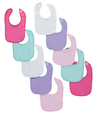 """Luvable Friends """"Pastel Party"""" 10-Pack Baby Bibs"""