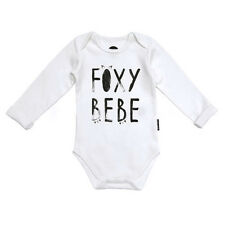 Baby Boy Girl Romper Bodysuit Fox Toddler Kid Jumpsuit Outfit Cotton Long Sleeve