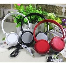 New STEREO HEADPHONES DJ STYLE HEADSET EARPHONE OVER EAR MP3/4 3.5MM FOLDABLE
