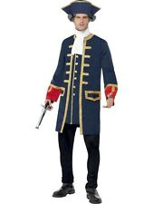 Pirate Commander Costume Mens Blue Pirate Costumes
