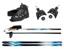 New Whitewoods 75mm 3Pin Cross Country Package Skis Boots Bindings Poles 157cm