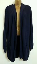 NEW Ev-ns Size 18 20 Longline Hooded Medium Thick Soft Knit Navy Cardigan