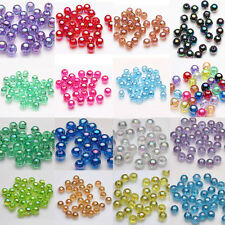 Lot 50/100Pcs Acrylic Round Loose Spacer Beads Jewelry Accessory 8mm Making