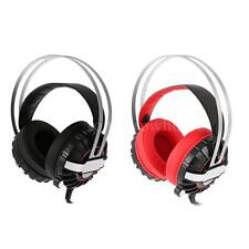 Over Ear Gaming Headsets Headphone Stereo Mic Microphone LED for Laptop PC N3N4