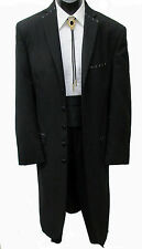 Very Long Black 6 Button Tuxedo Frock Coat Western Duster Steampunk Costume