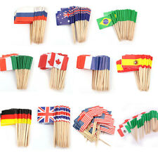 50/100x National Flag Cocktail Cupcake Food Picks Sticks Party Cake Decoration