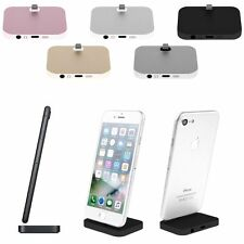 Alloy Desktop Charging Dock Stand Station Mount Audio Cable For Apple iPhone7