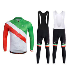 Italy Cycling Jerseys Bibs Set For Men Bicycle Jerseys Bib Suit New Reflective