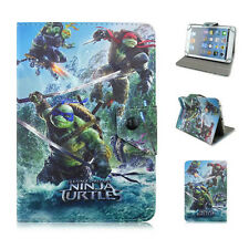 """Hot Cartoon Turtles Case for 7"""" 7.9"""" Universal Tablets PU Leather Stand Cover"""