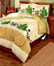 3PC. Holly Jolly Comforter Sets  King Bed Bedding Holidays  Christmas