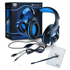 3.5mm Stereo Headset Gaming Headphone Earphone Over Ear with Mic For PC Gamer