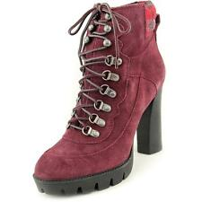 Nine West Abrial Women  Round Toe Suede Burgundy Ankle Boot NWOB