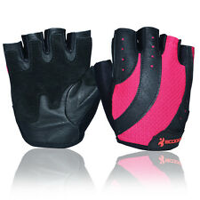 Fine Half Finger Womens Professional Gym Fitness Bodybuilding Leather Gloves