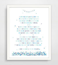 Finny and Zook I Carry Your Heart with Me Ee Cummings Poem Paper Print