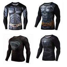Men's 3D Compression Tee Marvel Superhero Marvel T-shirts Gym Cycling Jersey Top
