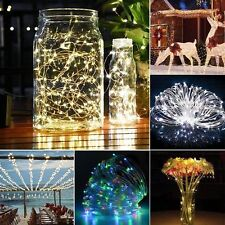 10/15/20m LED Solar Fairy String Light Outdoor Wedding Christmas Party Lamp GN