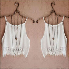 Short T-Shirt Summer Lace Sleeve Womens Casual Tops Fashion Tops Tee Blouse Tank
