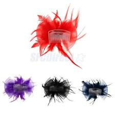 Phenovo Women Hair Accessories Feather Hair Clip Hairpin Brooch Pin Wedding Prom