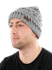 Barts Cap Beanie Hat Winter hat grey warm Fleece lined Stitched classic