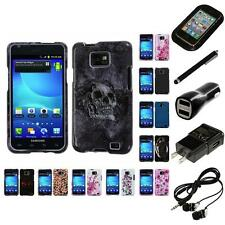 For Samsung Galaxy S2 i9100 Design Snap-On Hard Case Phone Cover Headphones