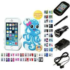 For Apple iPhone 5/5S/SE Silicone Design Skin Soft Phone Case Cover Headphones