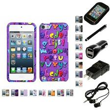 For Apple iPod Touch 5th 6th Gen Design Snap-On Hard Case Phone Cover Headphones