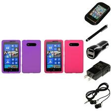 For Nokia Lumia 820 Silicone Skin Rubber Soft Case Phone Cover Headphones