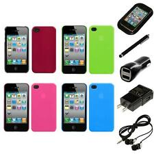 For Apple iPhone 4/4S Snap-On Rear Hard Back Cover Phone Case Headphones