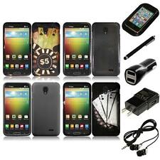 For LG Lucid 3 Snap-On Design Rubberized Hard Phone Case Cover Headphones